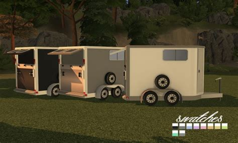 Sims 4 Designs: 9405 Horse Trailers -Open and Closed