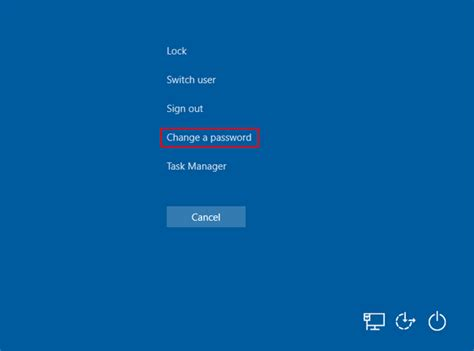 How to Disable Change Password Option from the CTRL + ALT