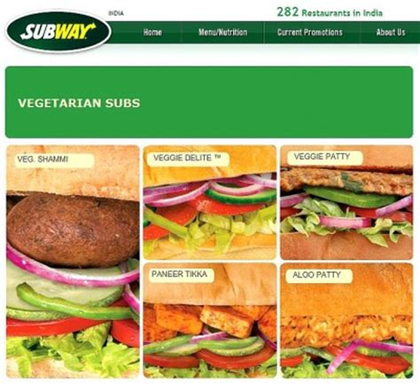 All-Vegetarian Subway Restaurant Opens Up in India