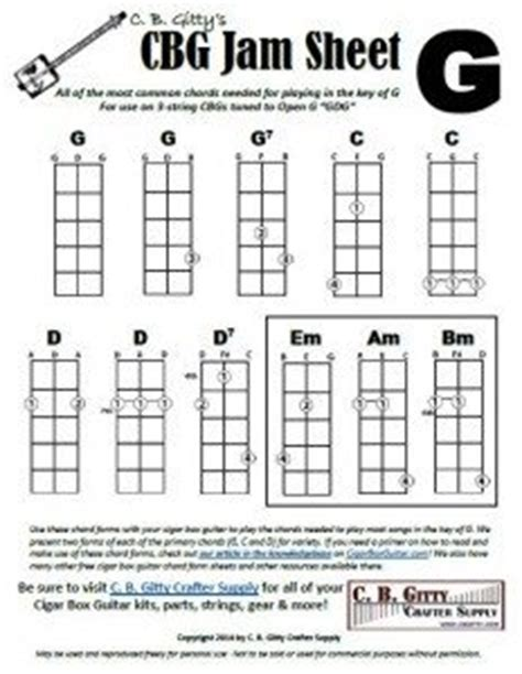 Jamming Guides for 3-string Cigar Box Guitars: Chords for