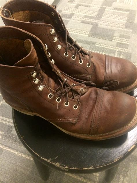 My Iron Rangers after a month wear and tear