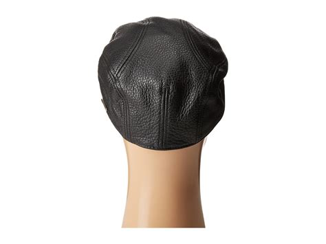 Lyst - Stetson Oily Timber Leather Ivy Cap in Black for Men