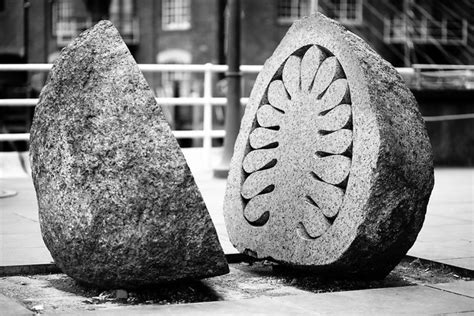 Exotic Cargo | Riverside sculpture by Peter Randall-Page