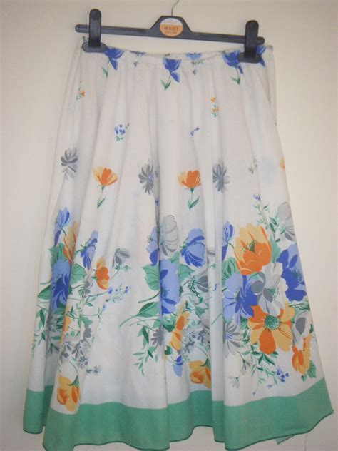 How To Make A Full Circle Skirt From A Tablecloth! By