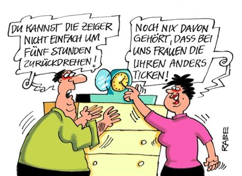 Zeitumstellung By RABE   Education & Tech Cartoon   TOONPOOL