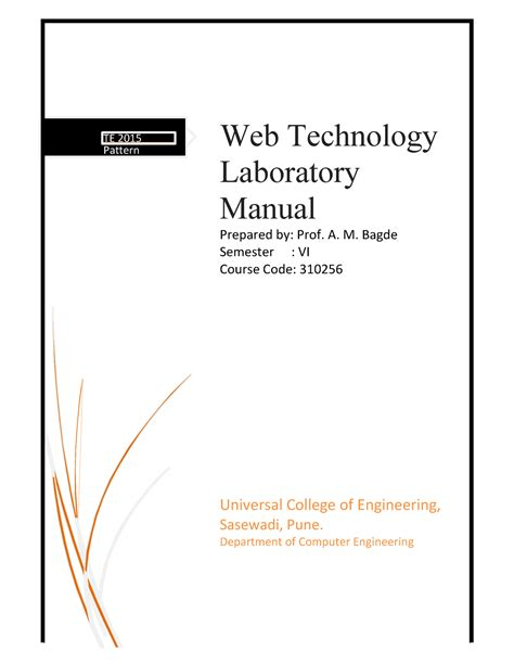 WT Manual 2019-20 - Web technology practical of sppu
