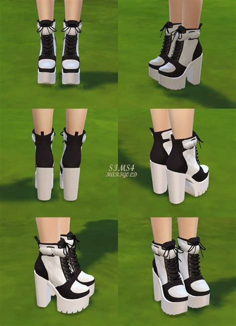 SIMS4 Marigold: Chunky Sneakers Heels • Sims 4 Downloads