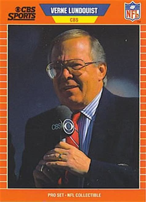 1989 Pro Set - Announcers Football - Gallery   The Trading
