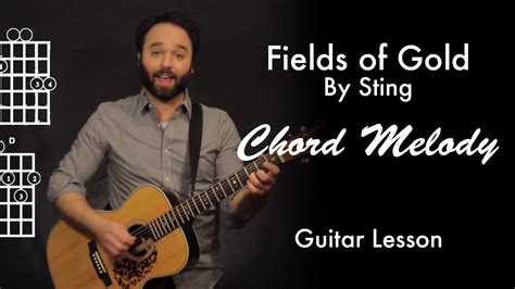 Fields of Gold by Sting | Chord Melody Tutorial • Garret's