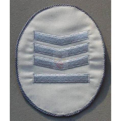 Rank Insignia, old Style, oval, white, 10,00