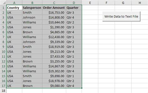 Write Data to a Text File using Excel VBA - Easy Excel Macros
